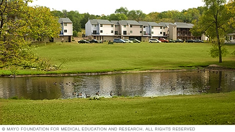 Set on the 38-acre Crossroads College campus, this housing community has all the amenities for a pleasant stay in Rochester.