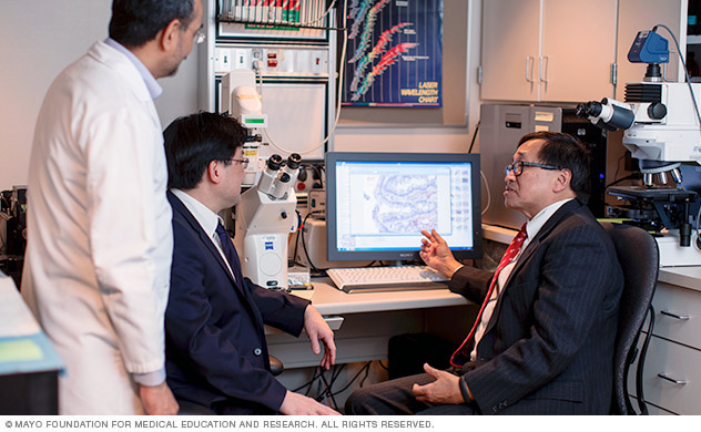 A team of Mayo Clinic researchers discuss advancements in esophageal cancer research.