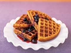 Sweet potato waffles with blueberry syrup - Mayo Clinic