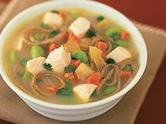 Gingery chicken noodle soup