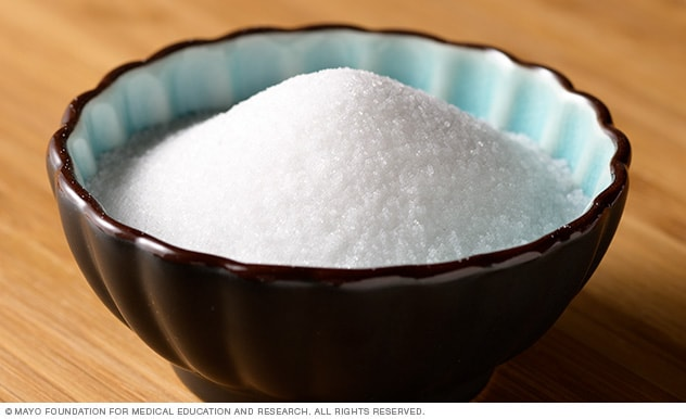 Photograph of table salt