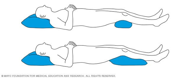 Slide Show Sleeping Positions That Reduce Back Pain Mayo Clinic