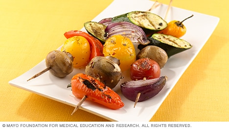 Grilled vegetable kebabs