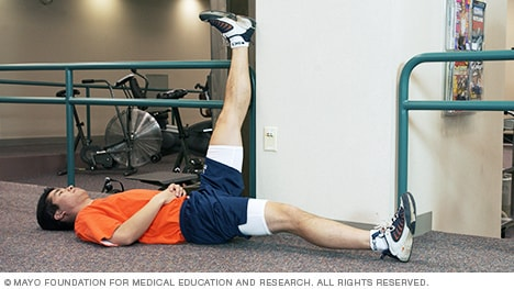 Photo of hamstring stretch