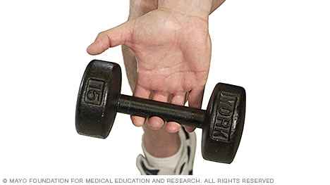 Photo of weight training dumbbell