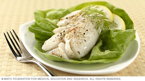 Properly poached cod