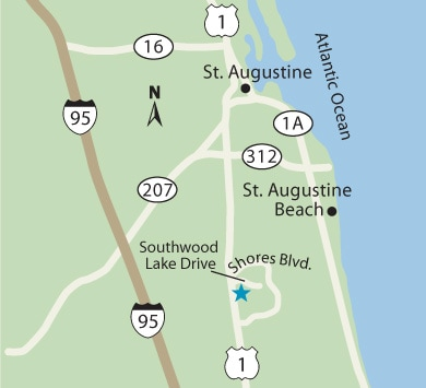 St. Augustine family medicine map
