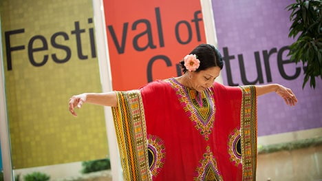 Mayo Clinic employee at Festival of Cultures event