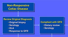 Diagram of evaluation for nonresponsive celiac disease