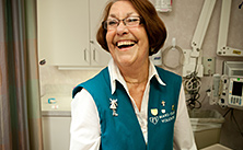Photo of Mayo Clinic volunteer laughing