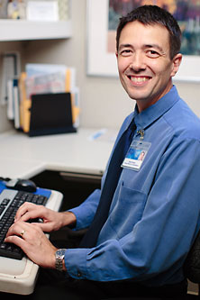 Photo of a Mayo Clinic patient appointment coordinator