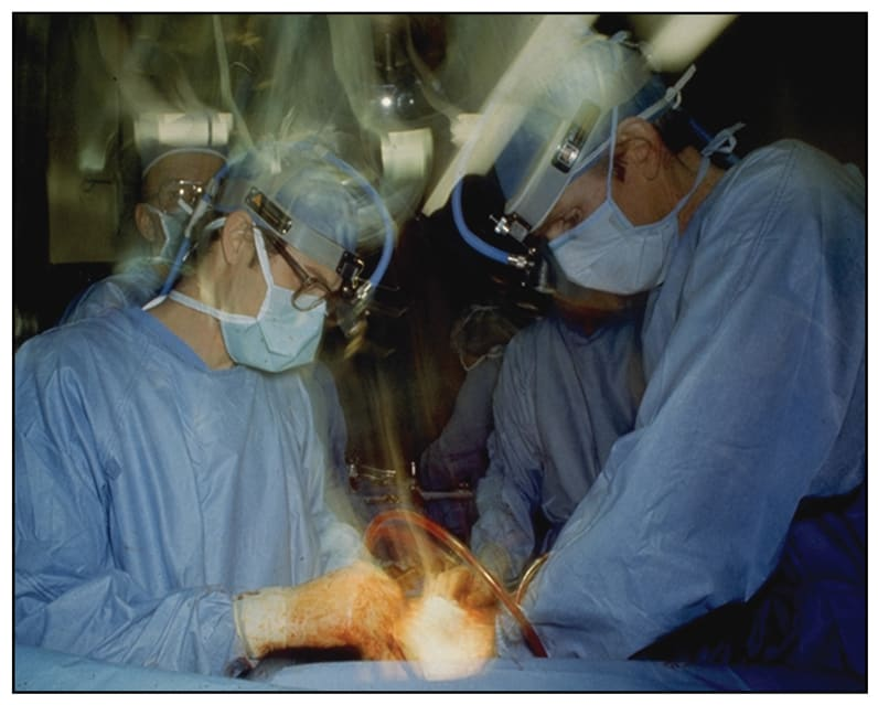 Image of the original TAH implant surgery