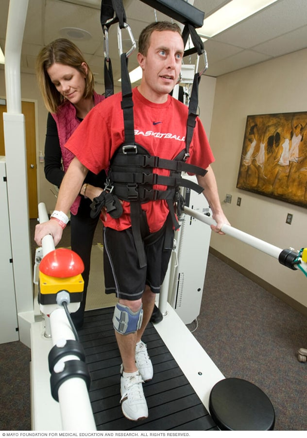 Photo of a person during locomotor training