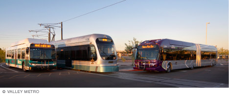 Light rail transportation in Arizona