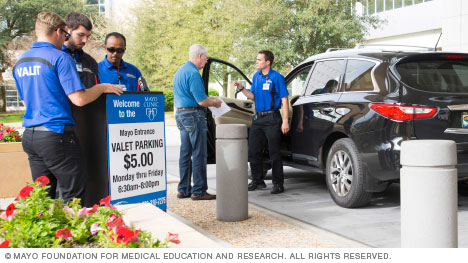 Valet parking at Mayo Clinic's campus in Florida