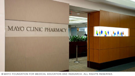 Entrance to Mayo Clinic Pharmacy in Jacksonville, Florida