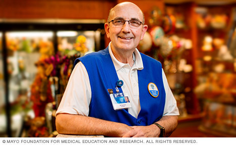 Mayo Clinic volunteer in Mayo Clinic Store