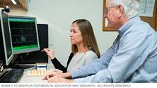 Photo showing biofeedback therapy