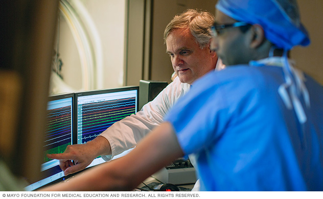 Mayo Clinic experts in the Electrophysiology Laboratory