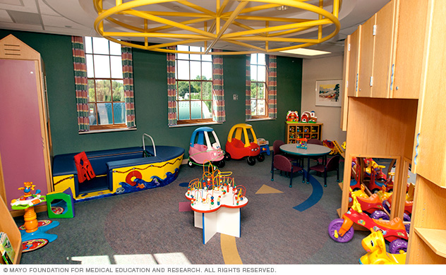 Playtime in a hospital playroom can be an important part of the treatment plan for children.