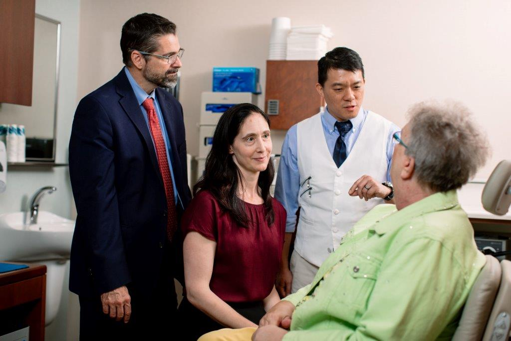 Mayo Clinic doctors with a patient