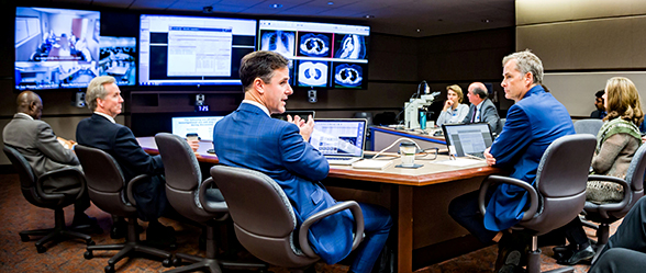 Lung cancer tumor board meeting weekly broadcast