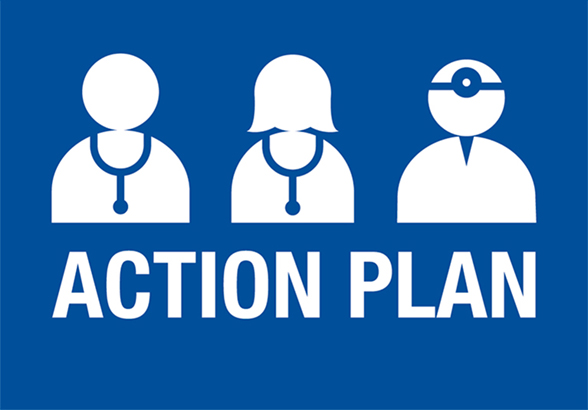 The words action plan
