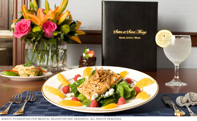 A personalized meal at the Suites at St. Marys.