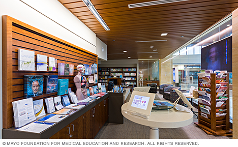 View inside the library on Mayo Clinic's Arizona campus