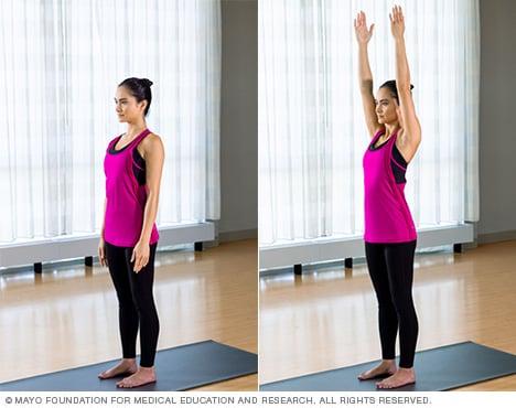 slide show yoga poses  mayo clinic