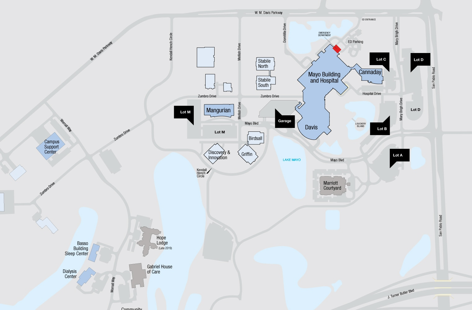 mayo jacksonville campus map Parking At Mayo Clinic In Florida Mayo Clinic mayo jacksonville campus map