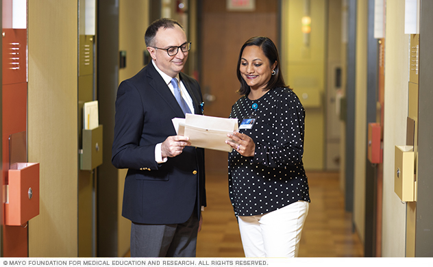 Mayo Clinic specialists collaborate to develop personalized care plans for you.
