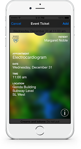 Your appointments to passbook