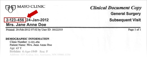 Image of Form: Authorization for Mayo Clinic to Disclose Protected Health Information