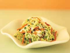Warm coleslaw with honey dressing