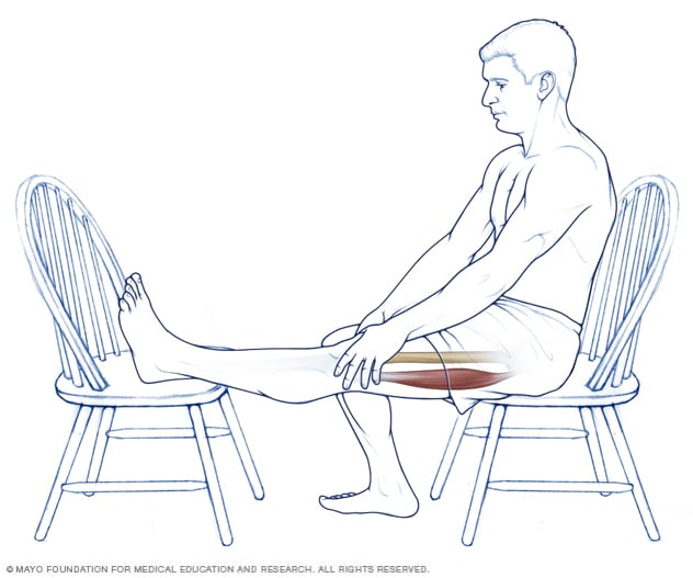 Illustration of a hamstring stretch