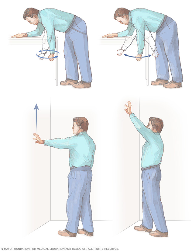 Illustration showing shoulder exercises