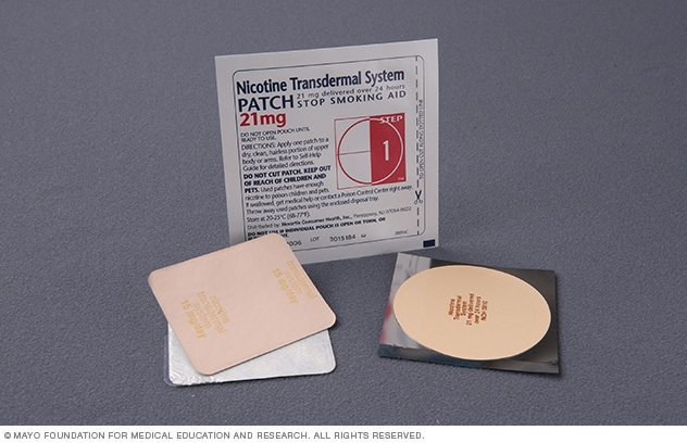 Photograph of a nicotine patch