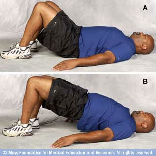 Photo of man in bridge position