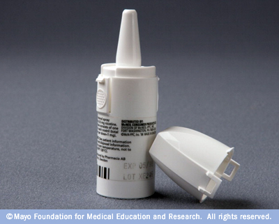Photograph of nicotine nasal spray
