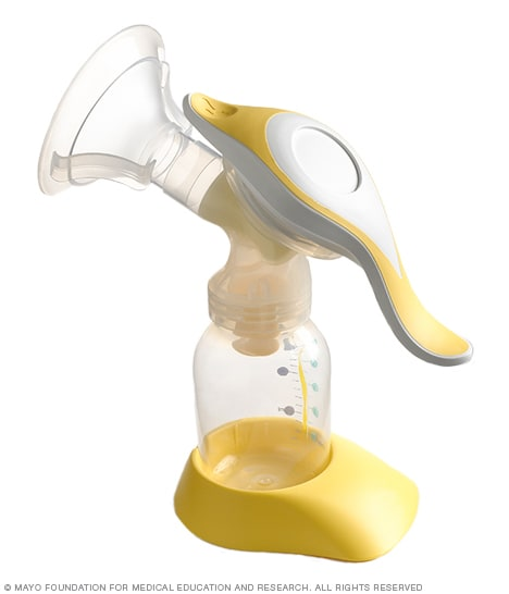Photo of a manual breast pump