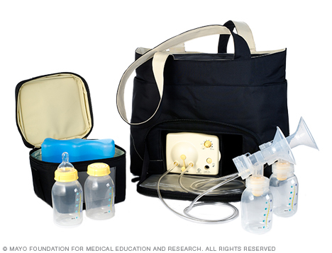 Photo of an electric breast pump