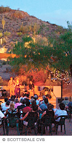 Photo of outdoor concert in Arizona desert foothills.