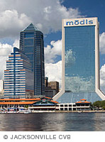 Photo of Jacksonville, Fla., skyline by day.