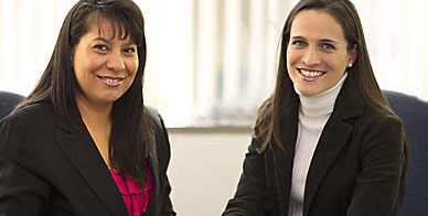 Martha Garcia y Maria del Carmen Labrador from the Mexico Representative Office