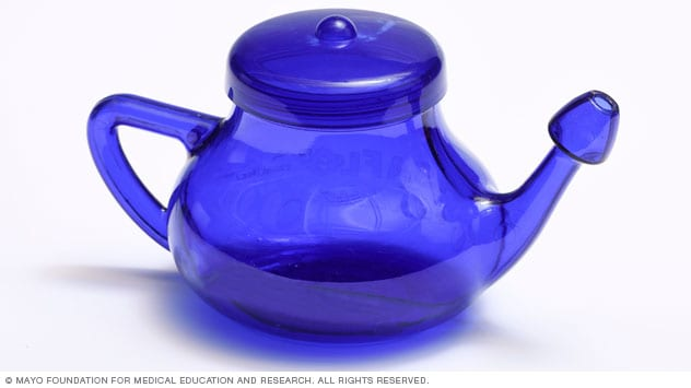 Photo showing a neti pot