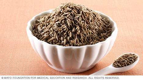 Photograph of cumin seeds