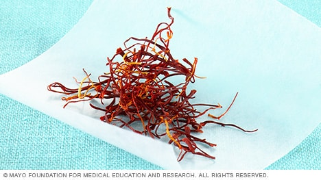 Photograph of saffron threads