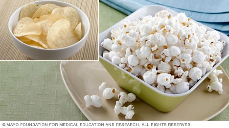 Potato chips vs. popcorn