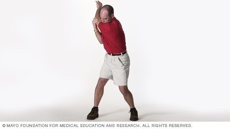 Photo showing several golf stretches